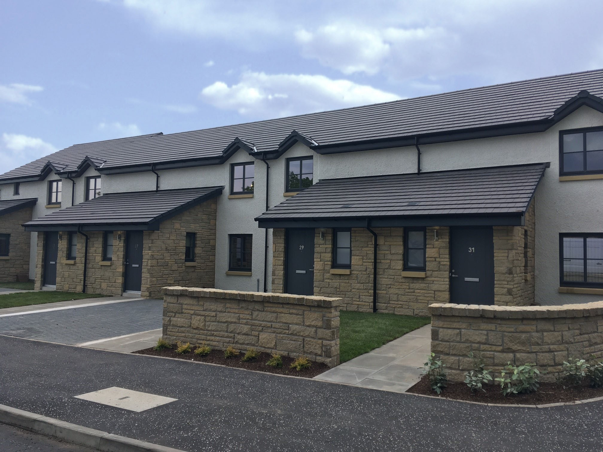 Westbank Road, Macmerry on handover day May 2017